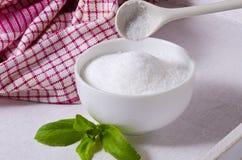 Stevia Powder. Natural Sweetener. Royalty Free Stock Photos