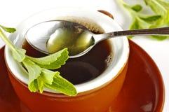 Stevia rebaudiana, poparcie dla cukieru fotografia stock