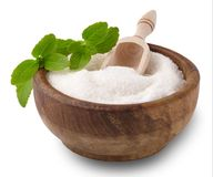 Free Stevia Rebaudiana, Sweet Leaf Sugar Substitute Isolated On White Royalty Free Stock Photo - 114237155
