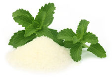 Stevia with suga Stock Photo