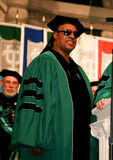 Stevie Wonder. Speaking at Tulane University's Commencement Ceremony where he received an Honorary Doctorate on his birthday in 2011 royalty free stock photos