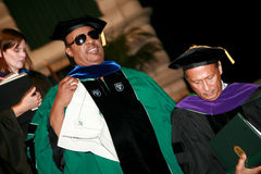 Stevie Wonder. Speaking at Tulane University's Commencement Ceremony where he received an Honorary Doctorate on his birthday in 2011 Royalty Free Stock Image