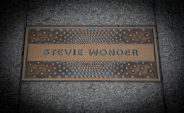 Stevie Wonder paving slab Stock Images