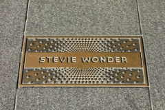 Stevie Wonder Plaque royalty free stock images