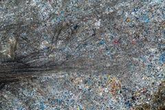 Stevig afvalstortplaats, satellietbeeld Verontreiniging van afval stock fotografie