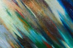 Stevig canvas met de donkere verf van de slagenwaterverf Royalty-vrije Stock Foto's