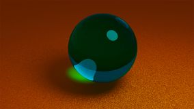 Stevig 3D Crystal Ball Creatief Media art. vector illustratie