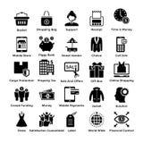 Stevig Pictogrammenpak van het Winkelen stock illustratie