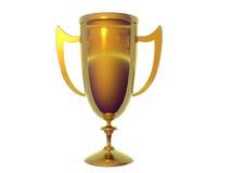 Stevige Gouden Trofee Royalty-vrije Stock Foto's