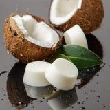 Stevige zeep of shampoobars, natuurlijke schoonheidsmiddelen stock afbeelding