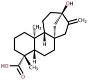 Steviol structural formula Royalty Free Stock Photo