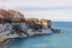 Stevns cliffs in Denmark Royalty Free Stock Image