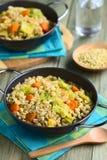 Stew λάχανων σίτου και κραμπολάχανου Στοκ Εικόνα