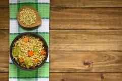 Stew λάχανων σίτου και κραμπολάχανου Στοκ φωτογραφία με δικαίωμα ελεύθερης χρήσης
