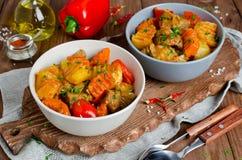 Stew αρνιών με τα λαχανικά Στοκ φωτογραφίες με δικαίωμα ελεύθερης χρήσης