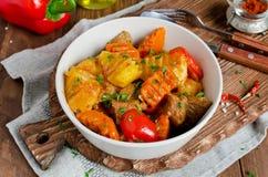 Stew αρνιών με τα λαχανικά Στοκ εικόνα με δικαίωμα ελεύθερης χρήσης