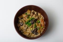 Stew λαχανικών, μανιταριών και κρέατος Στοκ εικόνα με δικαίωμα ελεύθερης χρήσης