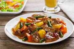 Stew βόειου κρέατος με τα πιπέρια Στοκ φωτογραφία με δικαίωμα ελεύθερης χρήσης