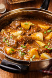 Stew βόειου κρέατος με τις πατάτες Στοκ Εικόνες
