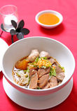 Stew βόειου κρέατος τροφίμων της Ασίας Noodle σούπα Στοκ Εικόνες
