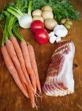 stew συστατικών Στοκ Φωτογραφίες
