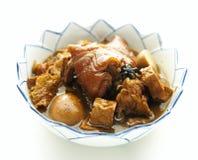 Stew χοιρινού κρέατος με το αυγό Στοκ φωτογραφία με δικαίωμα ελεύθερης χρήσης