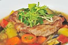 stew зажаренный в духовке мясом Стоковые Фото