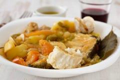 stew плиты рыб Стоковая Фотография