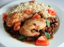 stew плиты цыпленка кубинский Стоковая Фотография