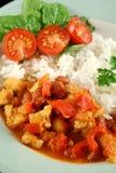 stew риса чечевицы цыпленка Стоковые Изображения RF