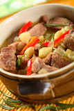 Stew. Pork stew with potatoes, pepper and other vegetables Stock Photography