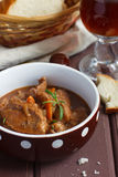 Stew. Beef and porter stew with rosemary and vegetables Royalty Free Stock Images
