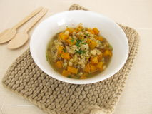 Stew with barley and lentils Stock Photography