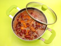 Stew of beans Stock Image