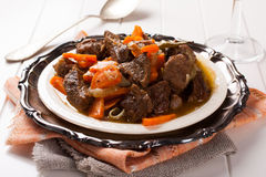 Stew with beef and carrots Royalty Free Stock Photos