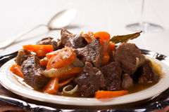Stew with beef and carrots Royalty Free Stock Photo