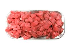 Stew Beef Cubes Royalty Free Stock Photography