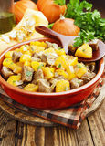 Stew beef with pumpkin Royalty Free Stock Images