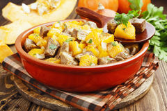 Stew beef with pumpkin Royalty Free Stock Image