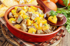Stew beef with pumpkin Stock Image