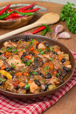 Stew with black beans, chili, chicken and vegetables Royalty Free Stock Image