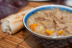 Stew and bread Royalty Free Stock Photo