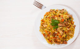 Stew cabbage with meat Royalty Free Stock Photos