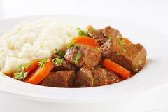 Stew Carrots Mashed Potato Royalty Free Stock Image