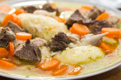 Stew with carrots and semolina Royalty Free Stock Photos