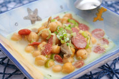 Stew of chick peas Stock Photo
