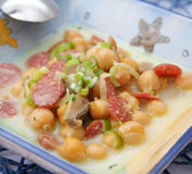 Stew of chick peas Royalty Free Stock Photography