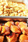 Stew chicken as a side dish Royalty Free Stock Photo