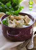 Stew chicken in a creamy sauce Royalty Free Stock Photography