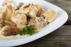 Stew chicken in a creamy sauce Stock Photography